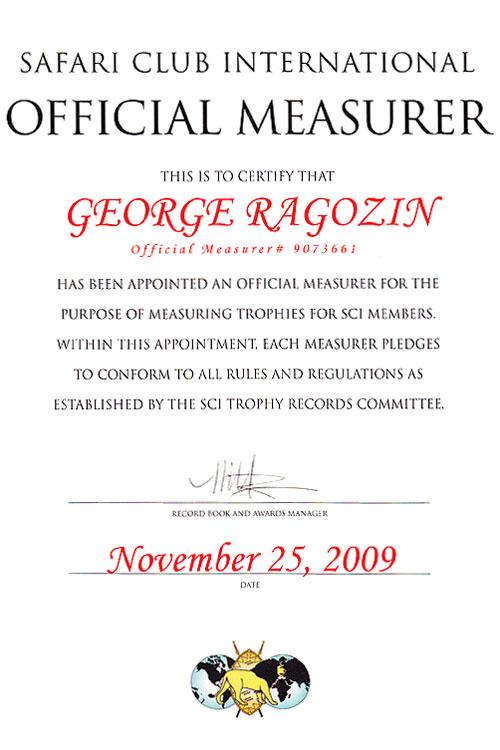 SCI measurer George Ragozin